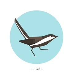 The symbol of the bird in style flat vector image vector image