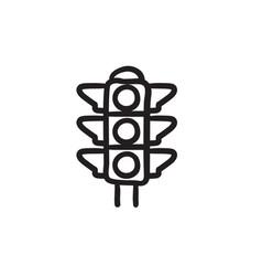 Traffic light sketch icon vector