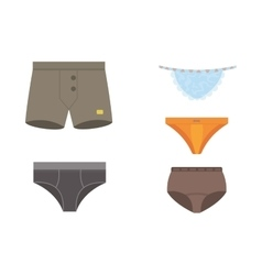 Underwear panties clothes set vector