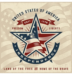 Vintage USA Independence Label vector image