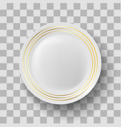 white ceramic plate vector image