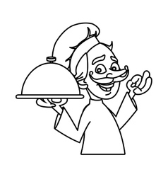 Isolated male chef cartoon design vector