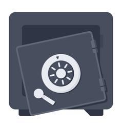 Broken safe icon vector
