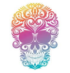 Floral Decorative Skull vector image