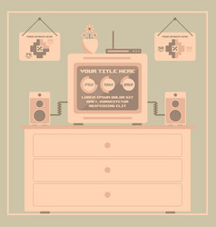 Retro infographics elements pixel art vector