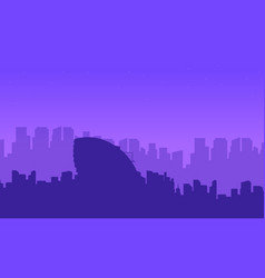 Collection landscape london city building vector