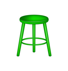 retro stool in green design vector image