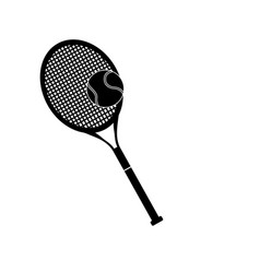 tennis racket and ball sport design pictogram vector image