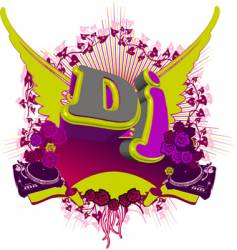 Abstract dj splash music background vector