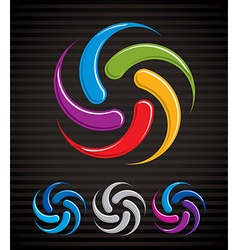 Arrows abstract loop symbol conceptual pictogram vector