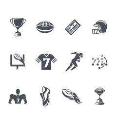 Rugby or american football icons vector
