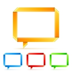 Folded paper speech bubbles vector