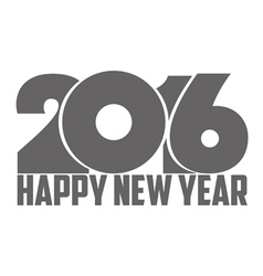 Happy new year 2016 black vector