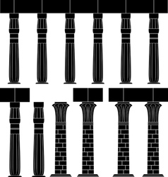 Ancient egypt column  silhouette of egyptian colu vector