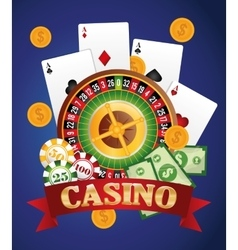 Casino gambling game graphic vector