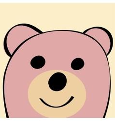Bear Funny cartoon animal toy vector image
