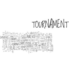 Beginners tournament tips text word cloud concept vector