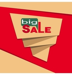 Big sale banner vector image vector image
