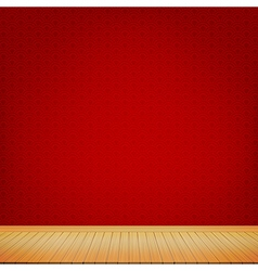 Brown wood floor with red chinese style background vector