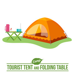Camping flat icon vector