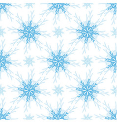 Christmas pattern snowflake seamless background vector