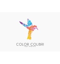 Colibri logo Color colibri Bird logo Creative vector image vector image