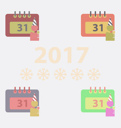 Collection of 31st of december calendar vector