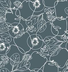 Contour vegetables seamless pattern vector