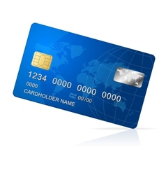 Credit Card blue icon Isolated on white vector image