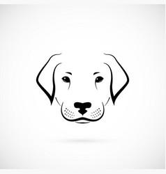 Dog labrador on white background design sketch vector