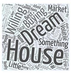 Dream houses word cloud concept vector