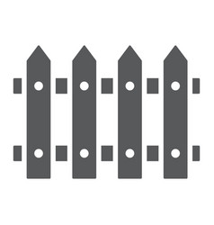 Fence glyph icon wooden and architecture vector