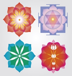 Floral Mandalas set vector image vector image