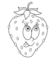 Fresh strawberry cartoon vector