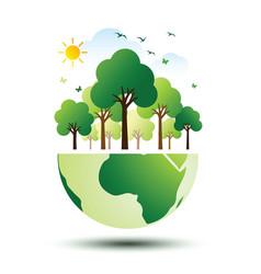 Green eco earth 2 vector