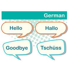 Greeting words in german languange vector