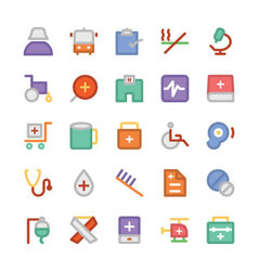 Health colored icons 8 vector