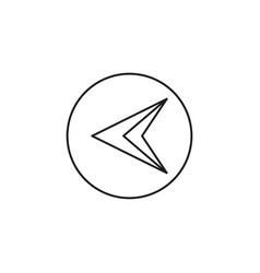 left modern circle icon vector image