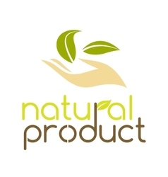 Natural product logo design template vector