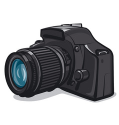 professional photo camera vector image