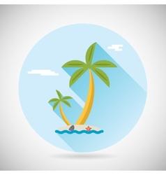 Sea Beach Holiday Vacation Symbol Ocean Island vector image vector image