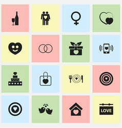Set of 16 editable passion icons includes symbols vector