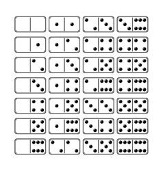 Set of domino icons objects symbols for games vector image