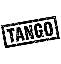 Square grunge black tango stamp vector