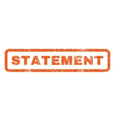 Statement rubber stamp vector