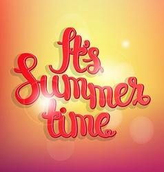 Summer bokeh background vector