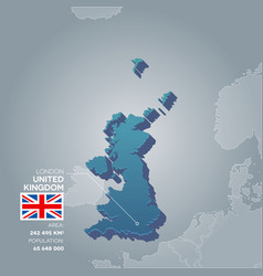 United kingdom information map vector