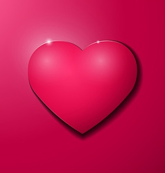 Valentines Day purple heart with shadow vector image vector image