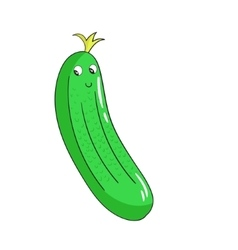 Vegetable cucumber vector image vector image