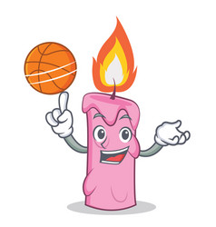 with basketball candle character cartoon style vector image